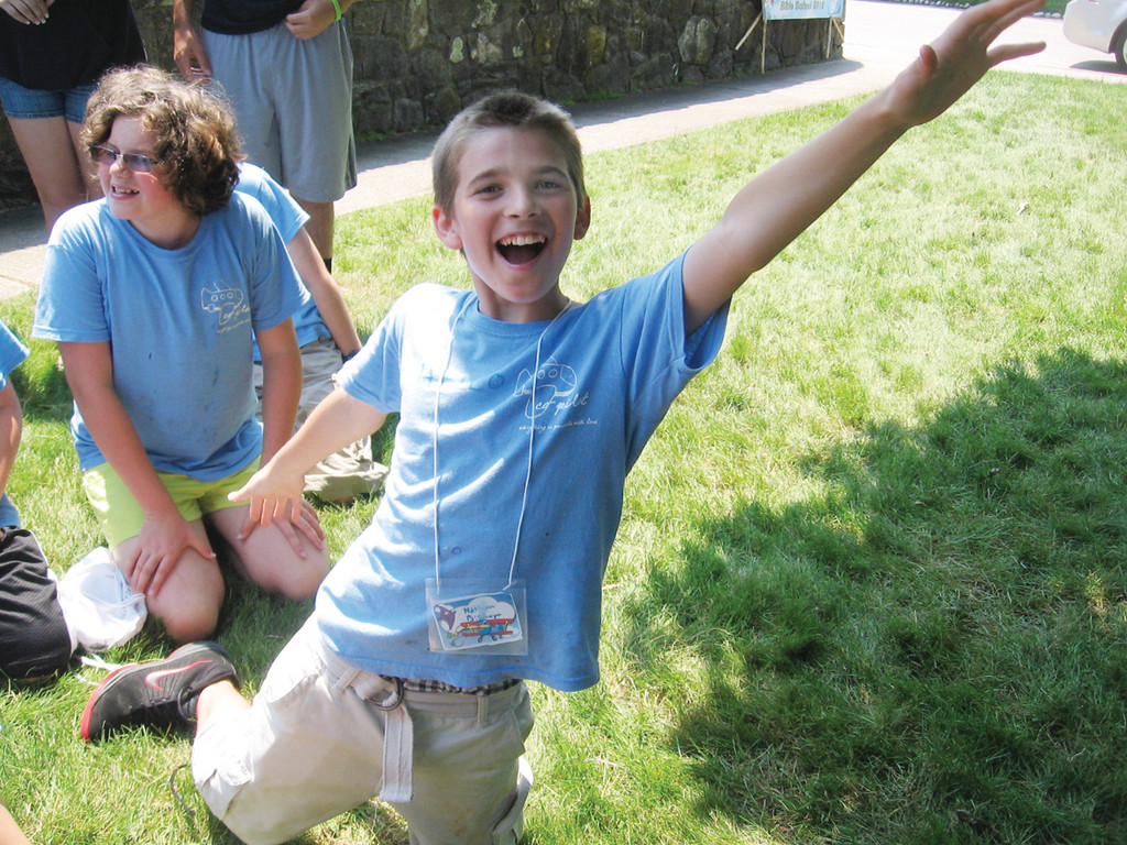 "WE WILL FLY:"" Nathan Bishop, 12, who will begin seventh grade in the fall, said camp was ""a lot of fun."" He enjoyed singing ""Fly"" as part of the finale on Friday."