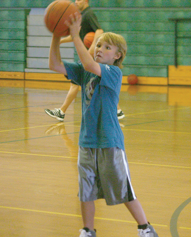 A young player takes part in drills.