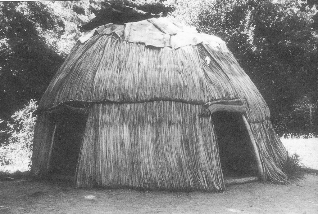 This summer wigwam is the type of dwelling in which the Native Americans in Warwick lived in during the 17th century.