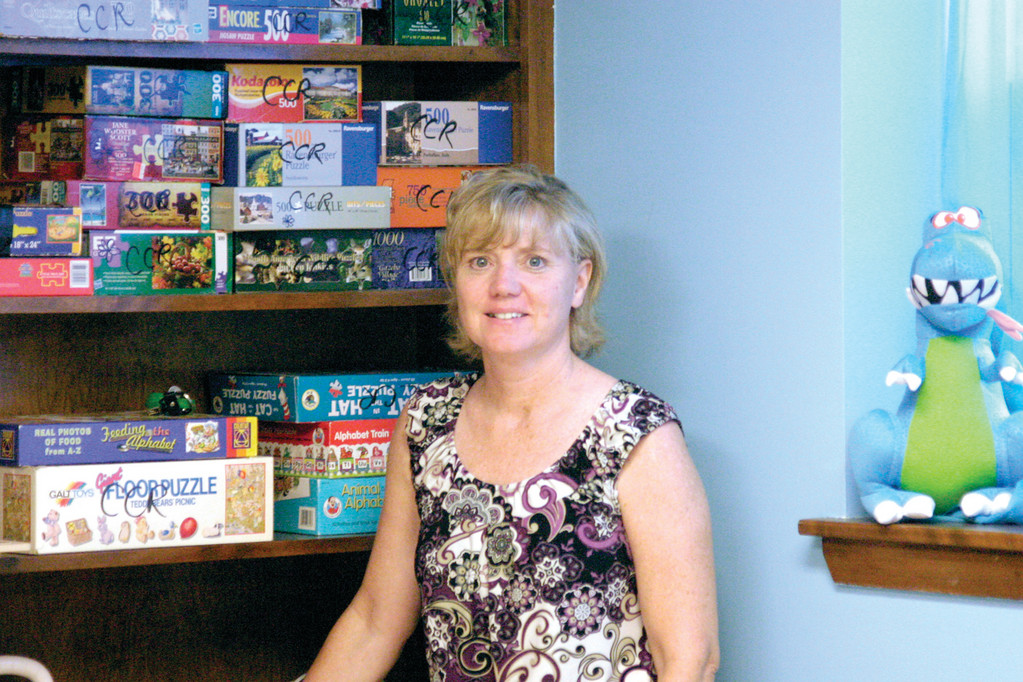 UNDER NEW MANAGEMENT: Patti Macreading took over in January as executive director of the Rhode Isalnd Family Shelter in Warwick.