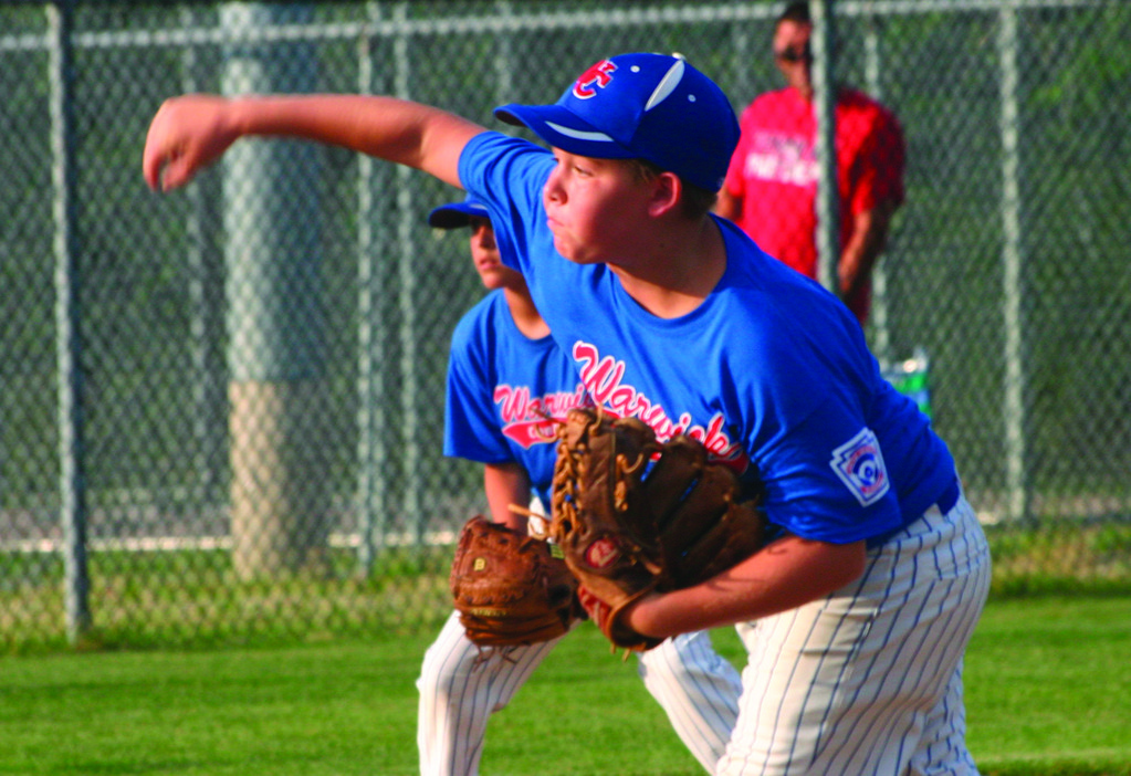 STEPPING UP: Dylan Palmiotti makes a pitch on Thursday.