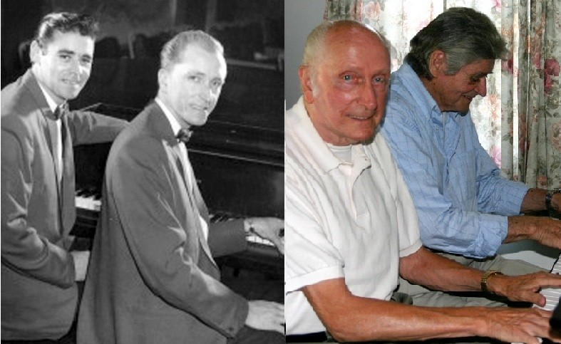 "THEN AND NOW: Ray Peterson and Winston ""Wayne"" Cogswell circa 1960 and today."