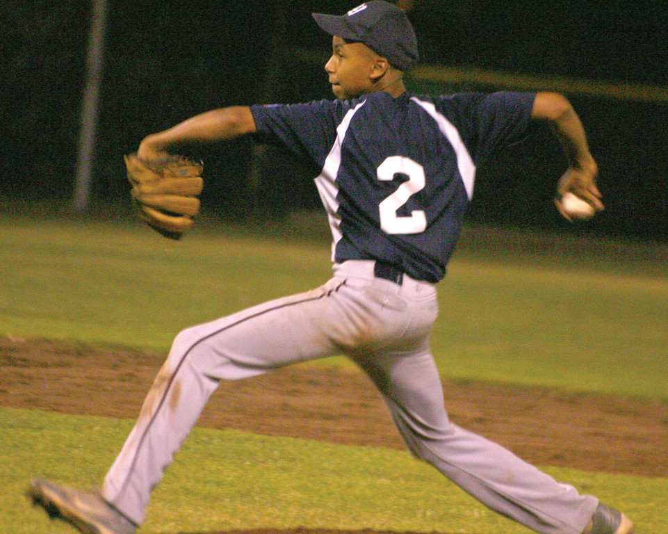 STARTING STRONG: Elijah Brown throws a pitch for the Warwick 13-year-old all-star team on Sunday against Cranston.
