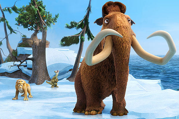 "Denis Leary, John Leguizamo and Ray Romano reprise their voice roles in ""Ice Age: Continental Drift."""