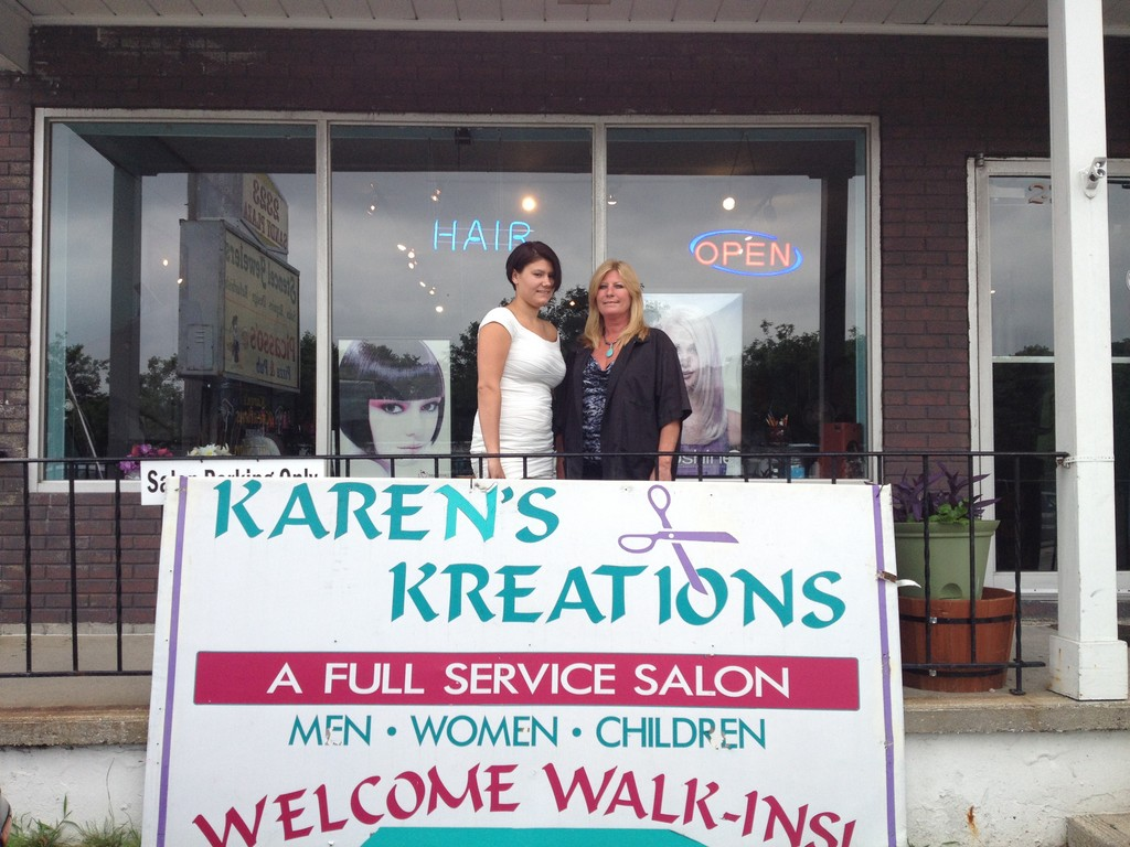 Karen and Kayla welcome you to Karen's Kreations - mention this ad for your specials with Kayla.