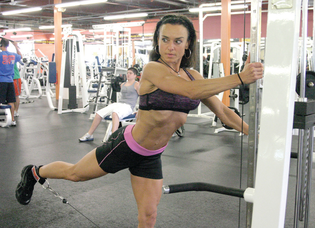 GOLD'S GYM: Tarbox trains at Gold's Gym, which is located at 200 Bald Hill Road. Owner David Walker and gym patrons describe her as a talented and friendly woman.