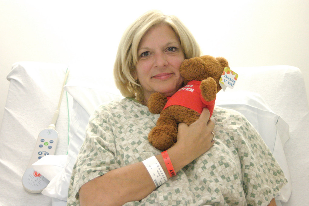 @C_Cutline:GET WELL SOON: After suffering a dog bite while walking Ward 1 last week, council hopeful Sharon Ahearn is feeling better. The bite became severely infected and doctors told her it would have been fatal had she not sought medical attention.