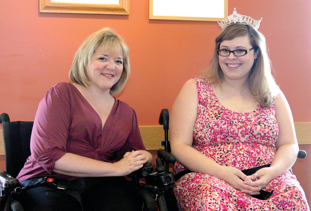 BEAUTY QUEENS: This Saturday, Ms. Wheelchair America will be crowned in a ceremony that is set to take place at the Renaissance Providence Downtown Hotel. Kristen Connors (left), the first Ms. Wheelchair Rhode Island, Ms. Wheelchair America 2006 and now president of the Ms. Wheelchair America Board, and Ms. Wheelchair America titleholder Katrina Horsch said the event focuses on women's empowerment.
