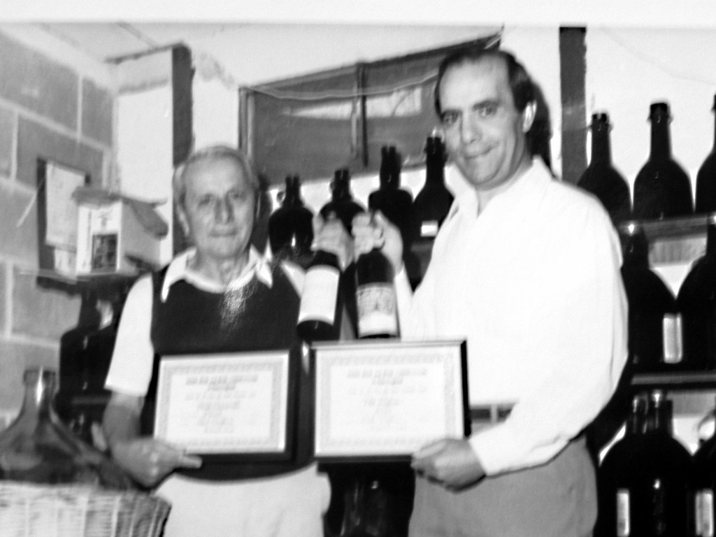 SPECIAL VINTAGE: Nat Piccirilli was on his way to gig one day when he learned his homemade wine came in first place in a competition. At 92, he still makes 100 gallons a year.