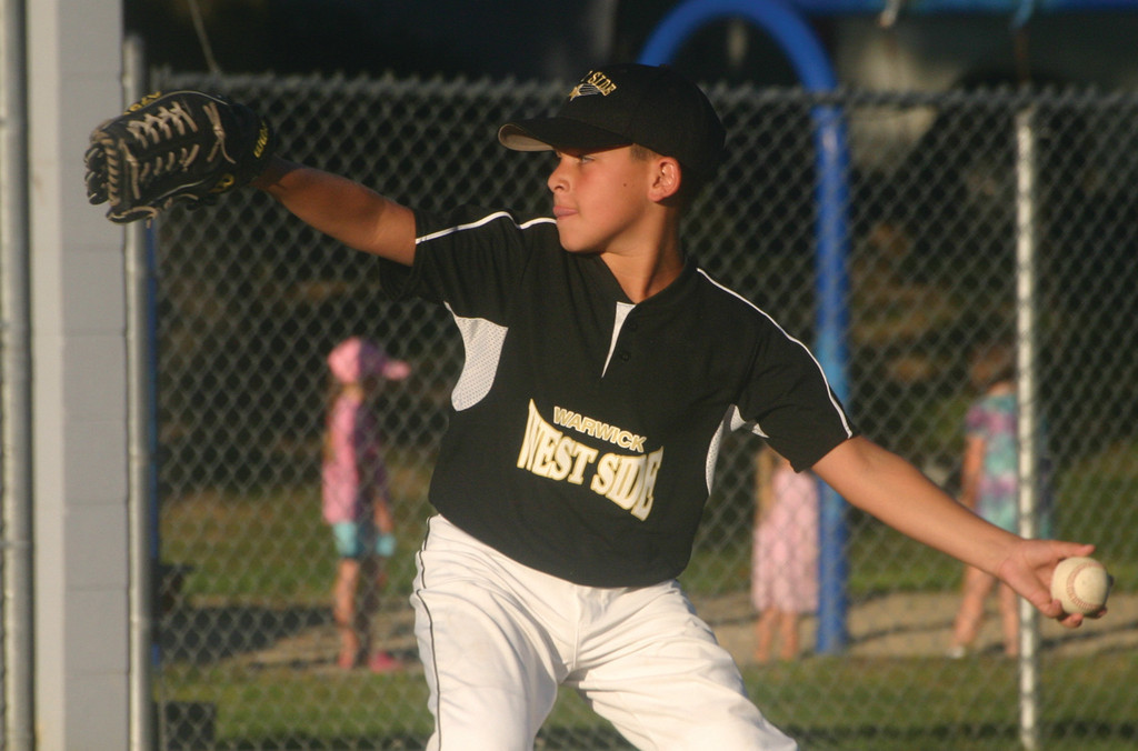 West Side's William Martino allowed one hit in four innings Monday night.