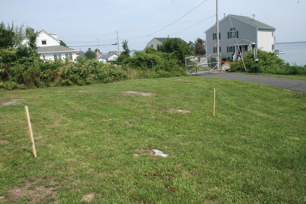STINK OVER STAKES: Highland Beach residents are concerned that a city shed will be located at Rocky Point Park in an area that was staked out last week.