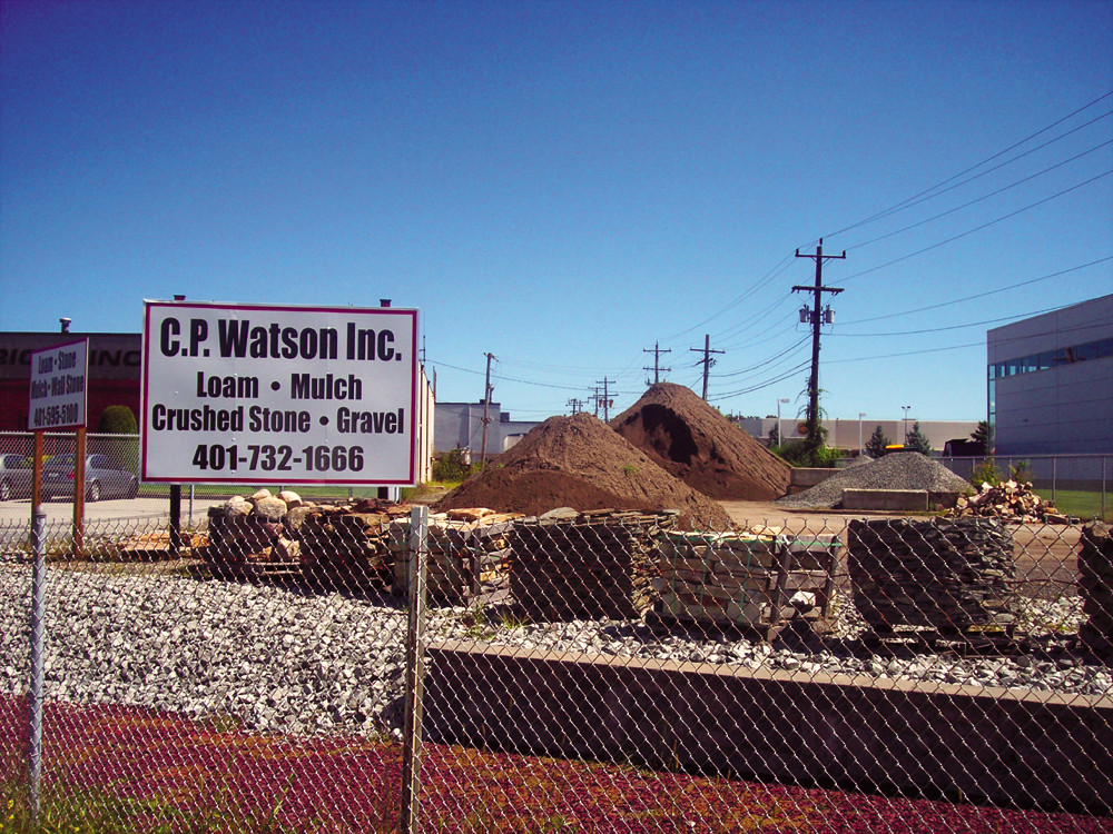 C.P. Watson, Inc., a longstanding landscaping materials business in Warwick, visible here from 95 North.