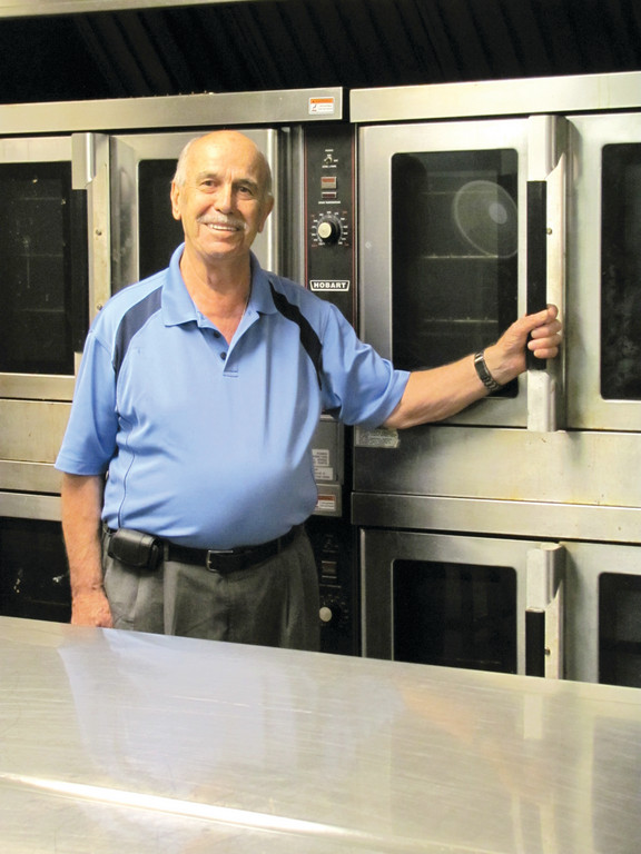 MAN IN THE KITCHEN: Harry Bablenis, who co-founded the Cranston Greek Festival with Arthur Kazianis more than 35 years ago, will be in this position from Friday through Sunday during the 27th annual Cranston Greek Festival. Bablenis, who at age 81 shows no sign of stepping down from his master chef duties, will be joined by co-kitchen chairman Nick Chacharone and Dennis Sampalis.