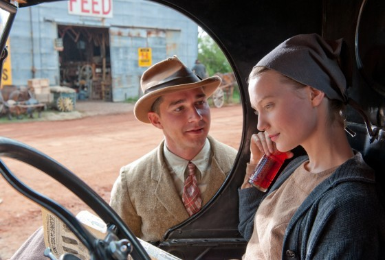 """Lawless"" stars Shia LeBeouf and Jessica Chastain."