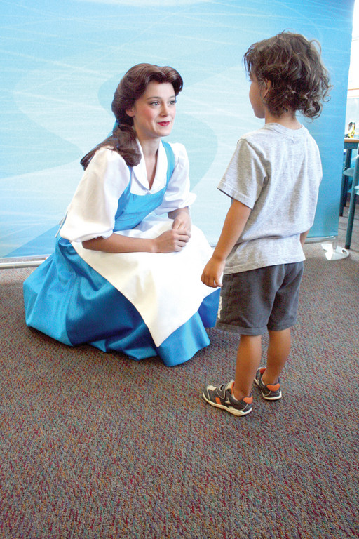 A REAL PRINCESS: Three-year-old Will Furney talks with Belle.