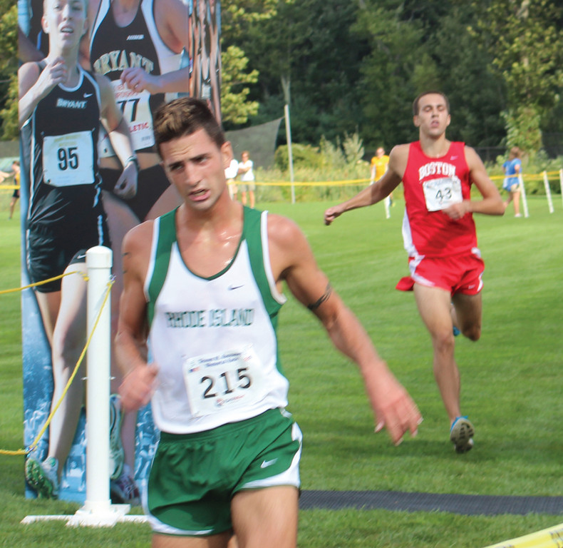 WORKING HARD: CCRI's Bobby Allen competes this past weekend.