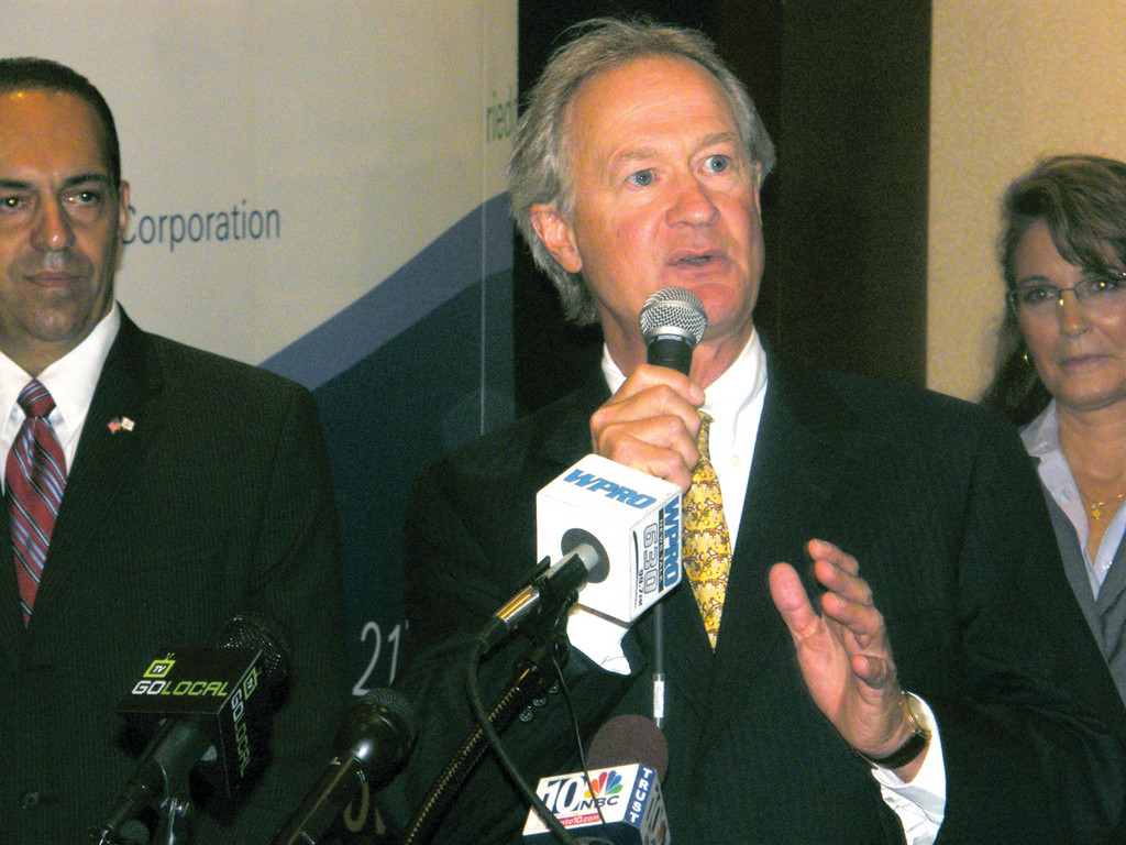 BIG ANNOUNCEMENT: Governor Chafee announces that he has instructed agencies to speed up regulation evaluations in order to aid small businesses.