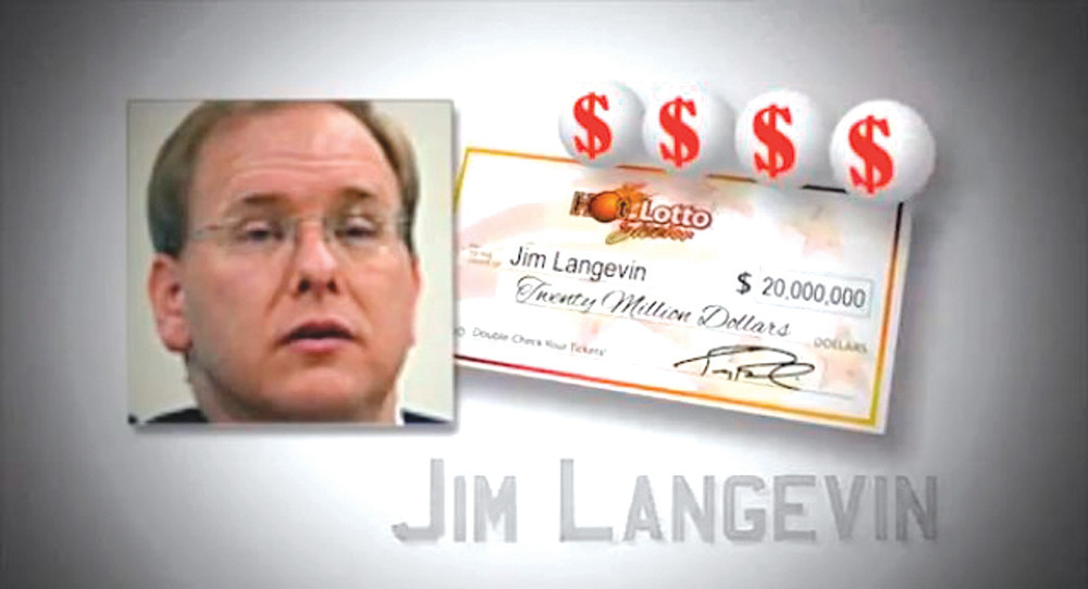 "LOTTERY WINNER? A still frame from Republican Congressional candidate Michael Riley's new television ad shows Congressman Jim Langevin with a $20 million check and dollar signs as a voiceover says, ""He did the next best thing to winning the lottery; he became a Rhode Island Congressman."" The ad campaign, which also features a radio spot, is the largest media buy in Congressional District 2 history, and is funded by Riley for Congress."