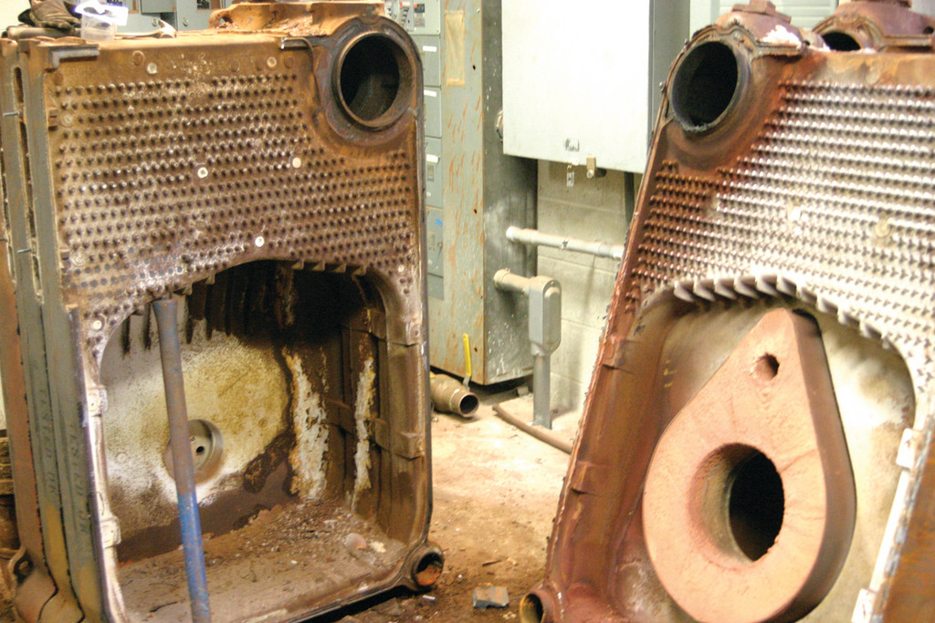 RUSTED AND ROTTED: The old boilers, as they have been disassembled. �There was a lot of wasted heat,� Dorney said.