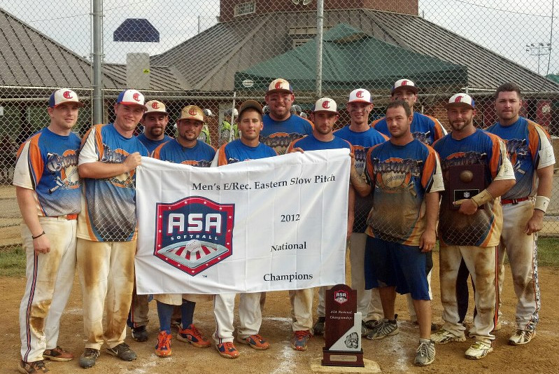 CHAMPS: Cranston-based Casali's Liquors won the ASA E Eastern National Championship earlier this month. Pictured, left to right: Joe Donahue, James Clarke, Anthony Dupre, Mike Casali, Tom Casali, Matt Fontaine, Ryan Raleigh, Dan Marland, Zach Demezza, Phil Butler, John Amore, Tommy Franco. Not Pictured: Gyorgy Arany, Al Skoropa, Devin Richards.