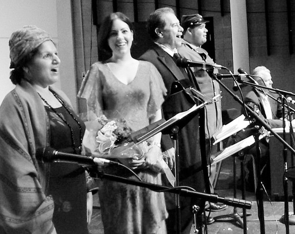 Cast members (from left): Deirdre Donovan, Kate Norigian, Rene de la Garza, Billy Ray Poli and Mark Conley performing selections from the opera.