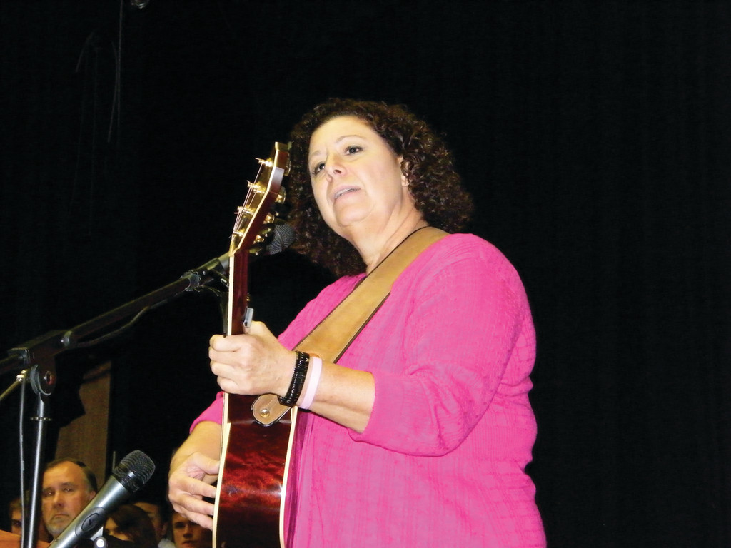 "SINGING OUT: Joanne Lurgio performs ""I won't ever quit,"" the theme song for the Gloria Gemma 5K."