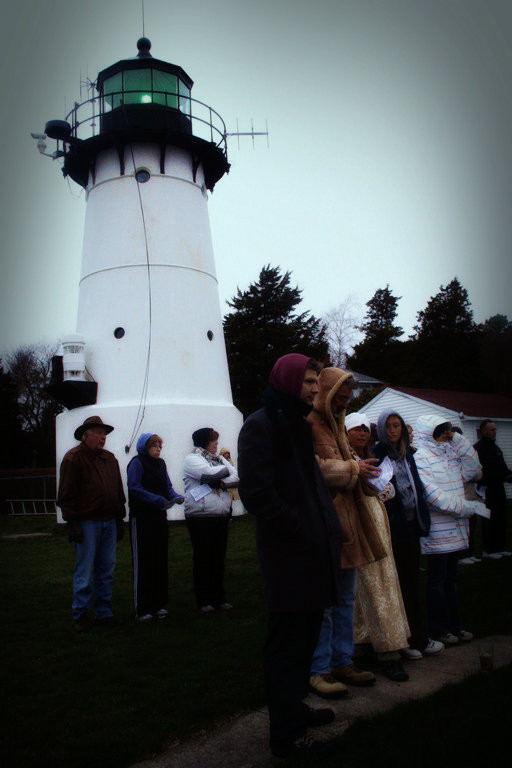 Warwick Light during Sun Rise Services on Easter, 2012.