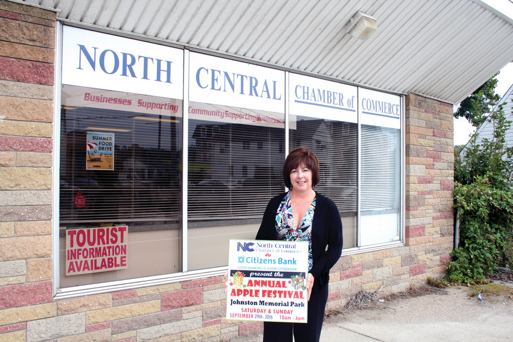 Deborah Ramos, president of the North Central Chamber of Commerce, has been busy planning the 25th anniversary Apple Festival celebration, which coincides with the Chamber's 30th anniversary.