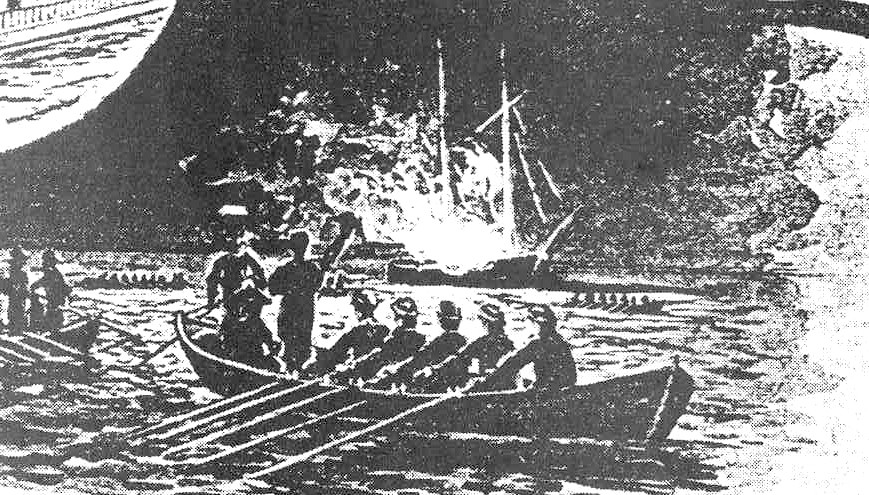 The burning of the Gaspee June 9, 1772