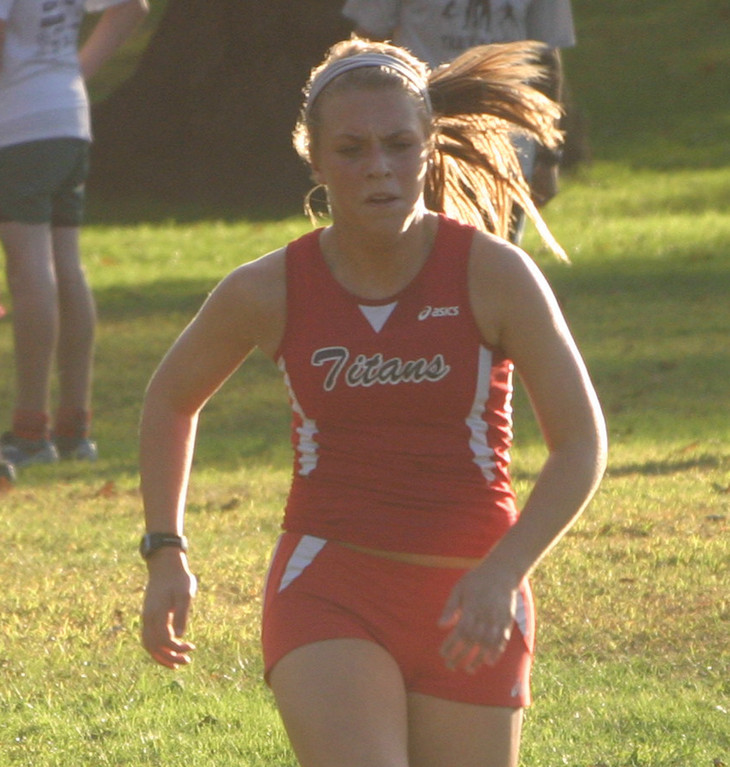 PUSHING IT: Jess Cawley runs hard.