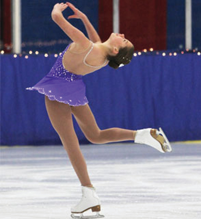 HOME ICE: A Warwick Figure Skaters club member competes at Thayer Arena, which will host the New England Regional Championships starting this weekend.