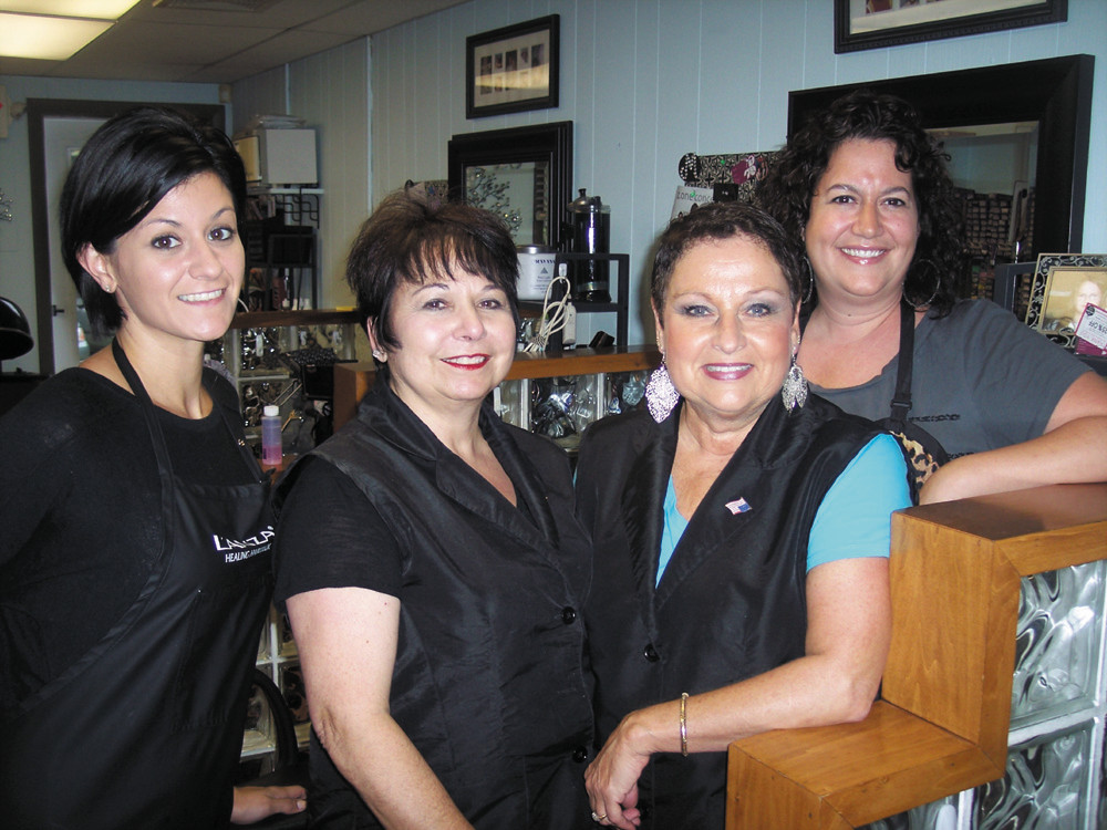 Studio West Hair Designs' talented stylists include (l-r): Amanda Rocheleau, Owner Diana McHale, Rhonda Salvatore and Marianne McKay.