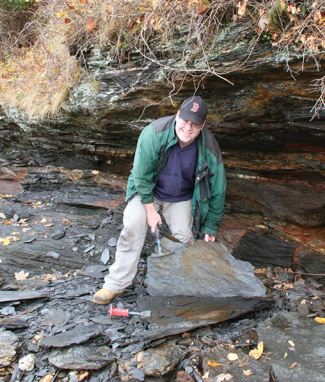 A CHIP OFF THE OLD ROCK: Geologist Mike Kieron will be talking about, identifying and telling people where they might find some fossils in Rhode Island on National Fossil Day at the Museum in Roger Williams Park on Saturday.