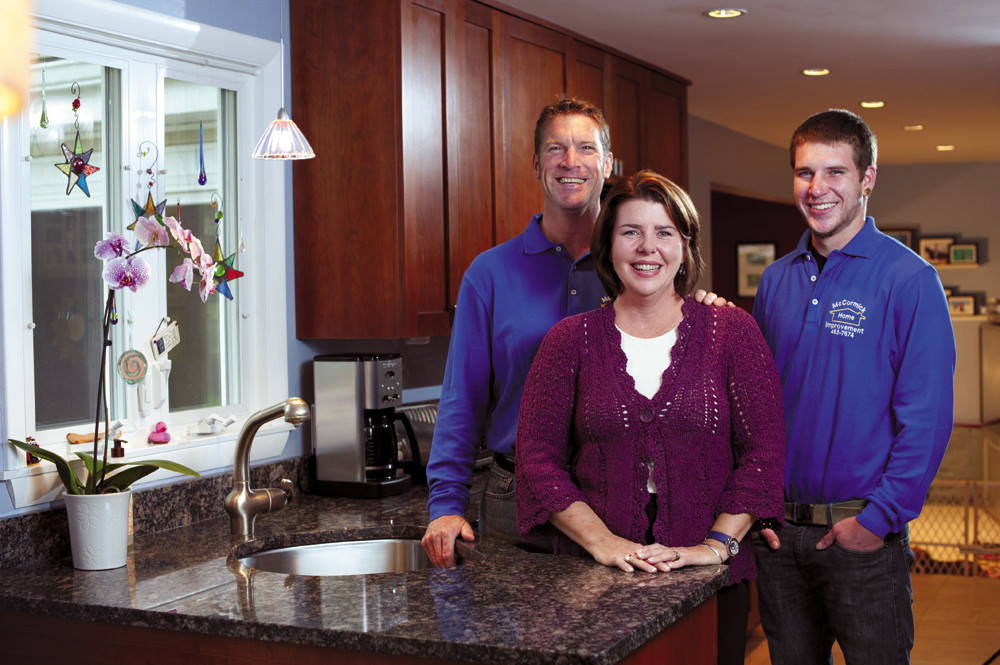 Kristen, Chris and Garrett McCormick of McCormick Home Improvement, LLC are your partners in home remodeling.