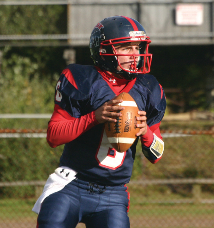 LOOKING UP: David Babcock started the year at running back but has since moved back to quarterback.