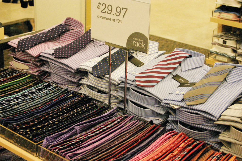 HABERDASHERY: The Rack offers men's clothing and accessories, including dress shirts, ties and cuff links.