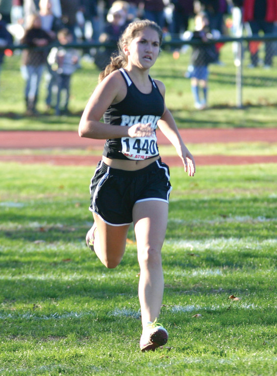 FINISH LINE: Pilgrim's Natalie Tocco was Warwick's top finisher on the girls' side.