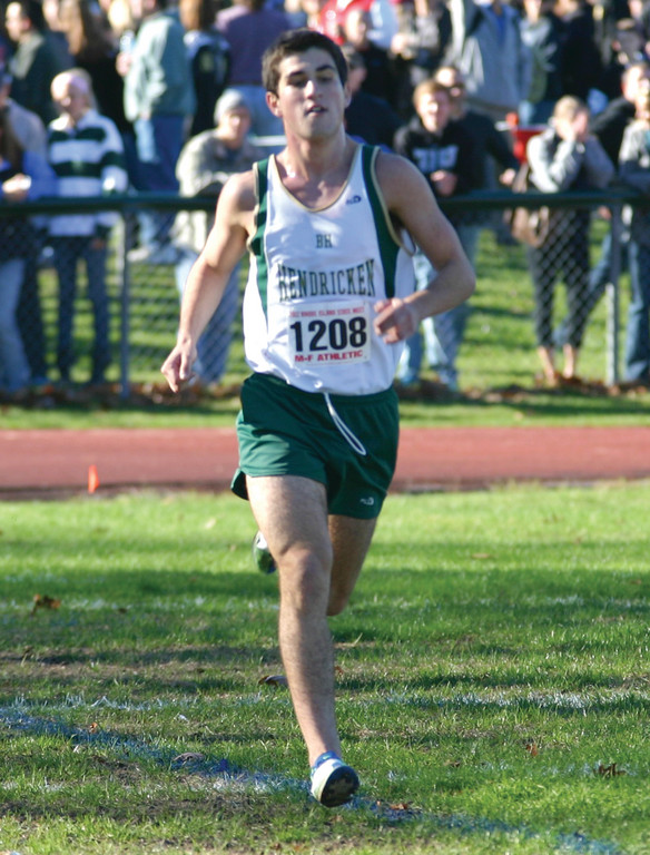 Alex Doherty of Hendricken finishes strong.