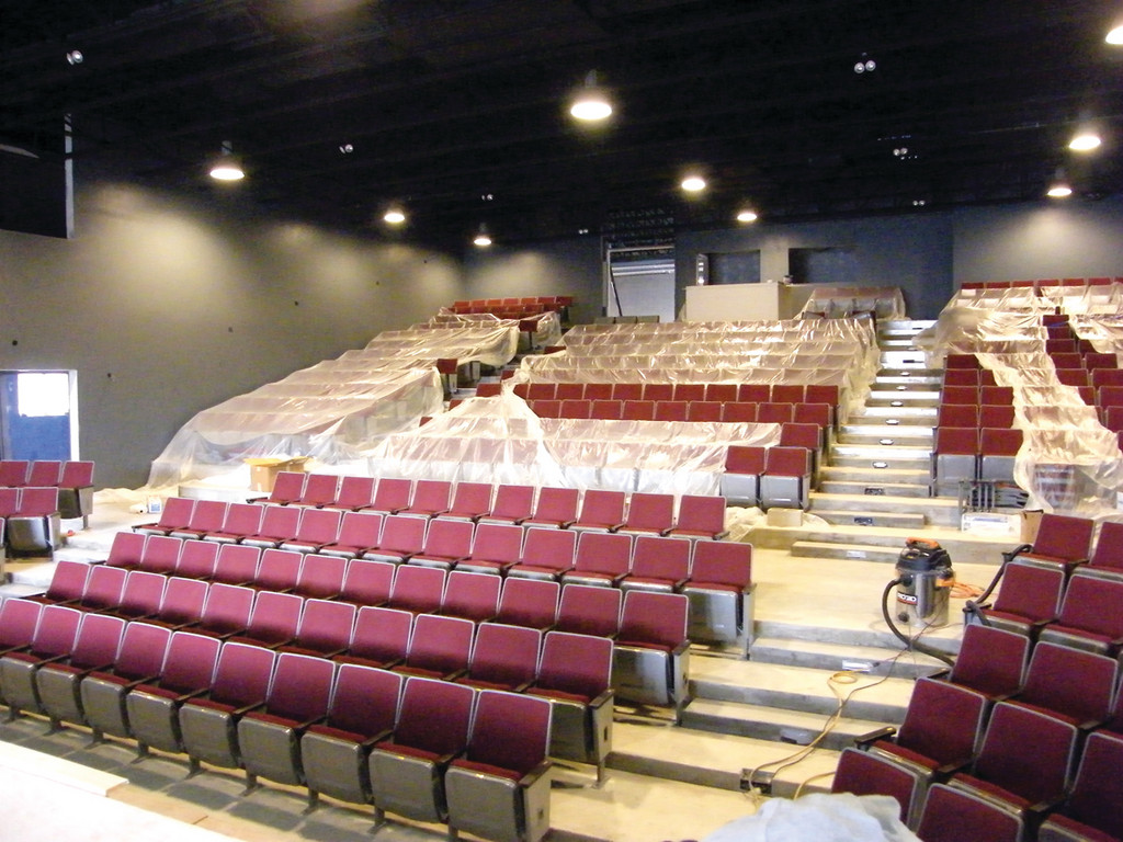 READY FOR A CROWD: The 409 seats at the brand new Ocean State Theatre on Jefferson Blvd. are installed and ready for the venue�s Dec. 5 opening.