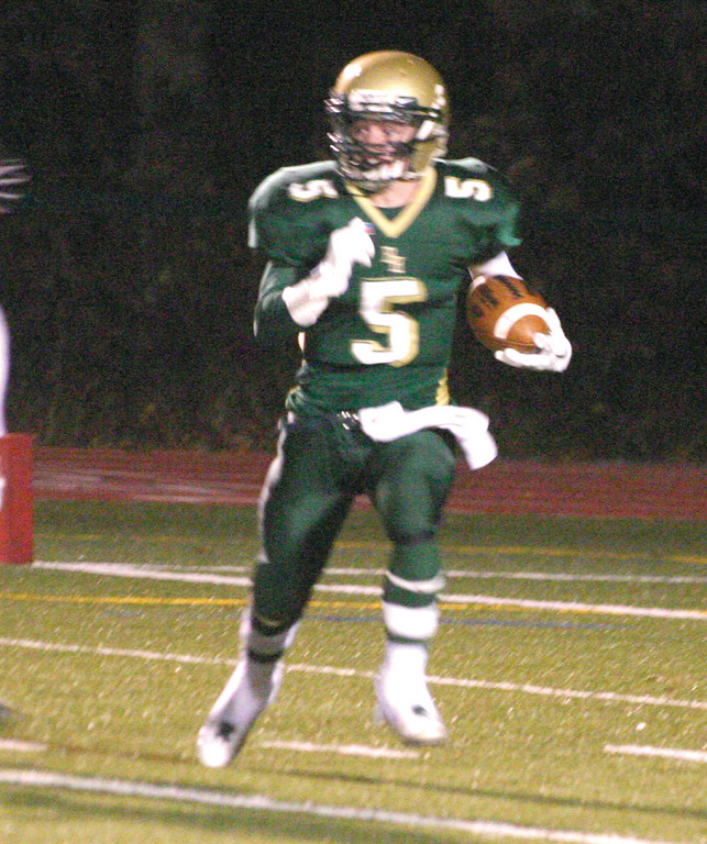 ON THE MOVE: Mitch Lucci returns a kick on Friday against La Salle. The undefeated Rams beat Hendricken 28-7.