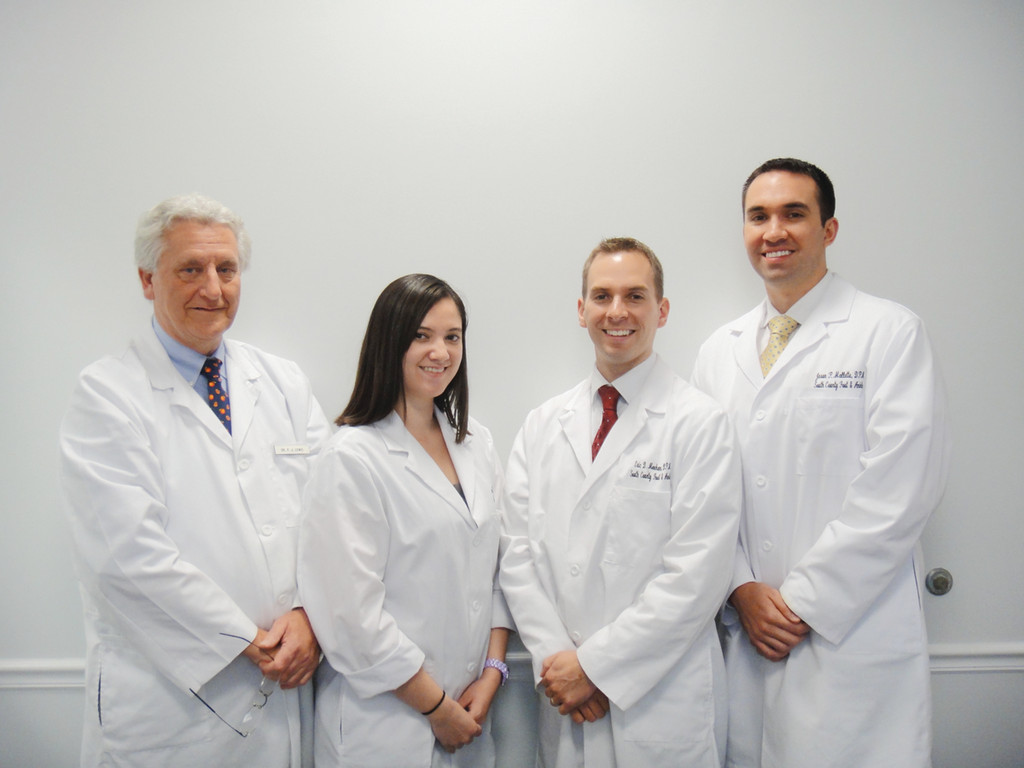 Meet the team of professionals at South County Foot & Ankle, Inc. – DPM's Lewis, Van Dine, Meehan and Mallette.