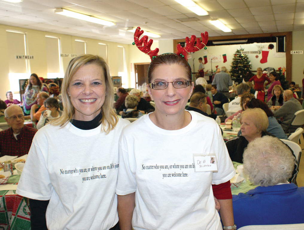 CHAIRS OF THE BAZAAR: Woodridge Church held their annual Holiday Bazaar this weekend as hundreds of visitors shopped in Timeless Treasures, Country Store, Penny Social and more during the daylong event. Pictured are Chair Elena Harootunian and Co-Chair Deb Scipiono.