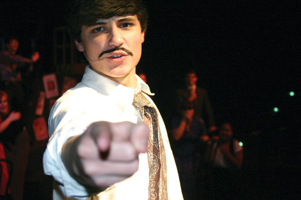 IT WAS YOU: Brian Duranleau plays Richard Hannay, who is keen to point his finger at those he suspects of foul play.
