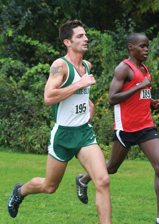 ALL OUT: Bobby Allen runs in a meet earlier this season. Allen came in fifth place in the NJCAA Division I national championships this past weekend, earning First-Team All-American honors in the process.