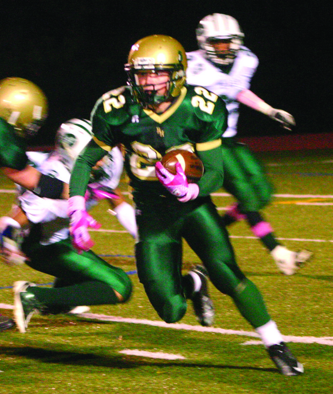 UNTIL WE MEET AGAIN: Remmington Blue (above) and his Hendricken teammates beat Cranston East on Oct. 12. If East beats Cranston West on Thanksgiving, the Hawks and 'Bolts will meet again in the Division I semifinals.