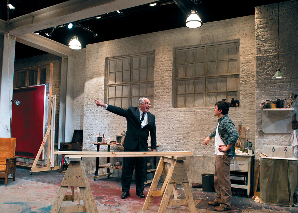 "Fred Sullivan Jr., as Mark Rothko, and Marc Dante Mancini, as Ken, in ""Red,"" a play by John Logan, directed by Tony Estrella."