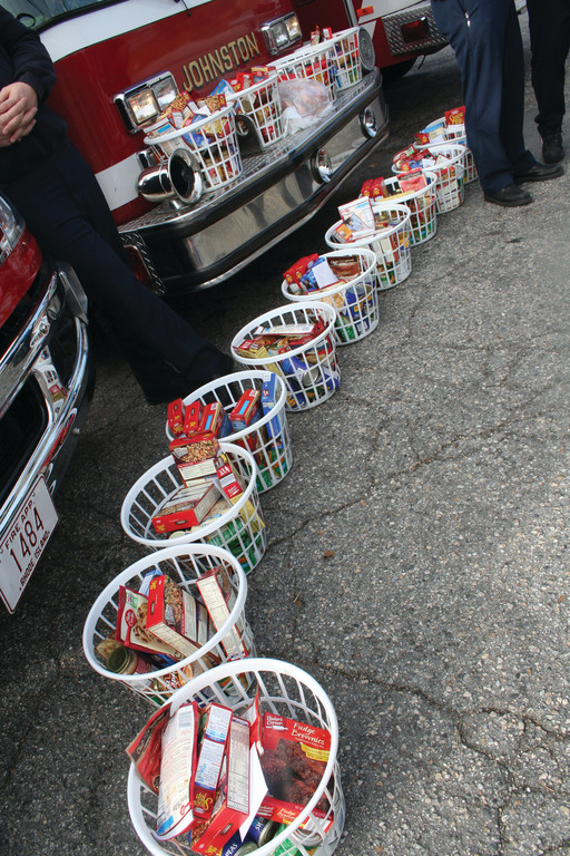 Baskets included all the fixings for a Thanksgiving dinner, from sides to dessert. One family was given a whole turkey from Baffoni's Poultry farm, while the remaining recipients were given gift cards to purchase their own turkey.