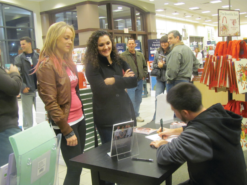 Among the many supporters and admirers who turned out for Ryan Shewcov�s book signing last week, were Krista Clayton and Kristen Izzo.