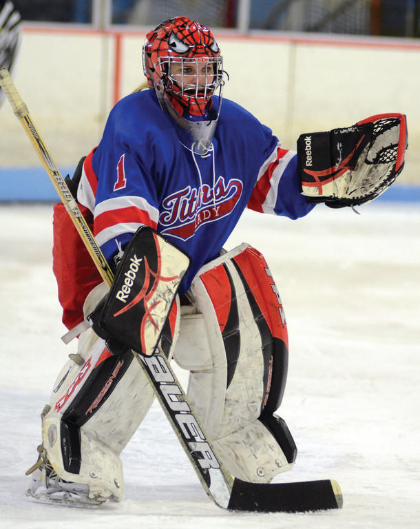 NEXT STEP: Warwick goalie Kayleen Murphy watches the action during a game last season. After going 11-5 last year, the Titans have moved up to Division I and are excited about their opportunity.