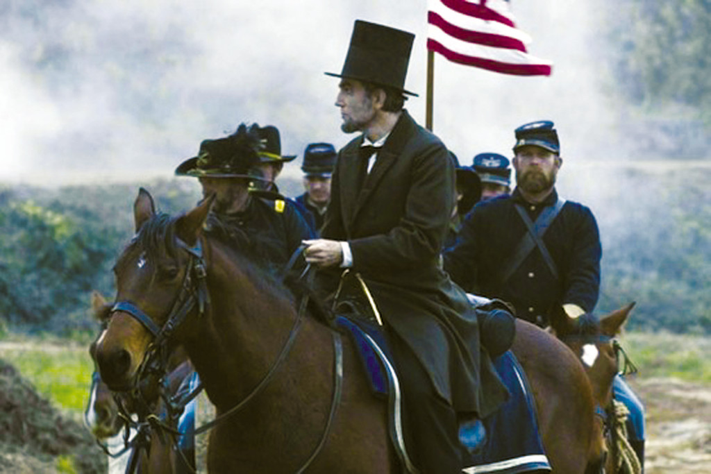 "Daniel Day Lewis is President Abraham Lincoln in Steven Spielberg's ""Lincoln."""